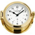 WEMPE Porthole Clock 140mm Ø (CUP Series) Porthole clock brass with Arabic numerals