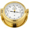 WEMPE Barometer 140mm Ø, hPa/mmHg (REGATTA Series) Barometer gold plated with white clock face