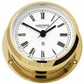 WEMPE Yacht Clock 95mm Ø (PIRATE II Series) Yacht clock brass with Roman numerals