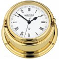 WEMPE Quartz Ship Clocks 150mm Ø (BREMEN II Series) Quartz ship clock brass with Roman numerals