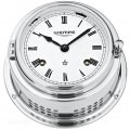 WEMPE Mechanical Bell Clock 150mm Ø (Bremen II Series) Bell clock chrome plated with Roman numerals