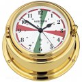 WEMPE Radio Room Clock 150mm Ø (BREMEN II Series) Radio room clock brass