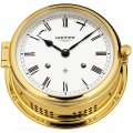 WEMPE Mechanical Bell Clock 185mm Ø (ADMIRAL II Series) Bell clock brass with white clock face