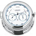 WEMPE Barometer with Thermometer/Hygrometer Combination 185mm Ø (ADMIRAL II Series) Barometer with thermometer/hygrometer chrome plated with white clock face and blue frame