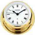 WEMPE Yacht Clock 110mm Ø (SKIFF Series) Yacht clock brass with Roman numerals