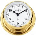 WEMPE Yacht Clock 110mm Ø (SKIFF Series) Yacht clock brass with Arabic numerals